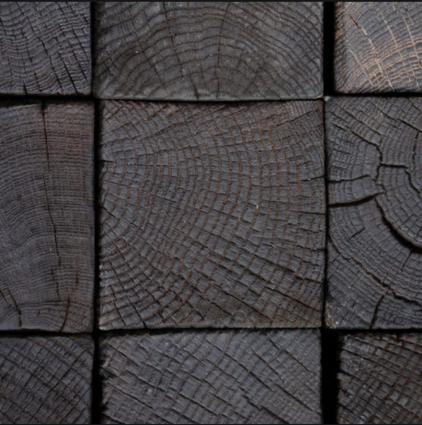 Charred Oak Setts (100mm deep)