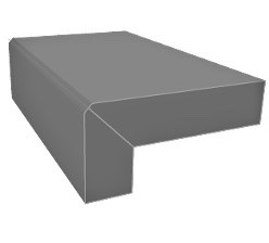 Graphite Porcelain Bullnose & Mitred Downstand Steps