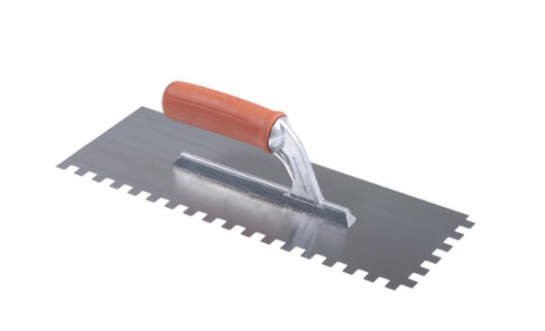 Large Rubber Handle Notched Trowel.