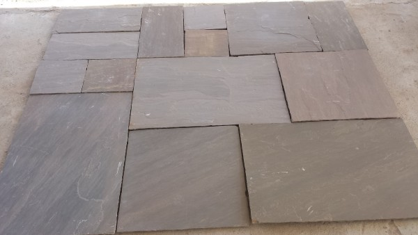 Autumn Brown Natural Riven Sandstone Paving