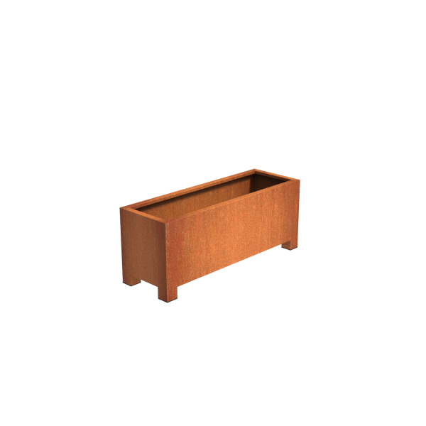 Andres Corten Square & Rectangular Planters With Feet