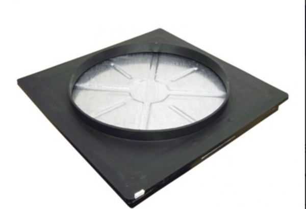 Round to Square Recessed Man Hole Cover