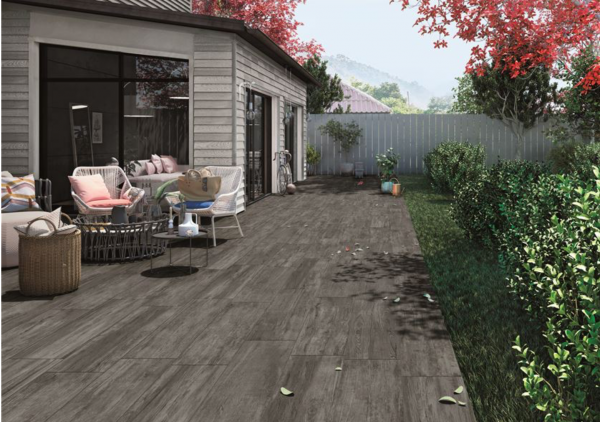 Dark Wood Porcelain Paving
