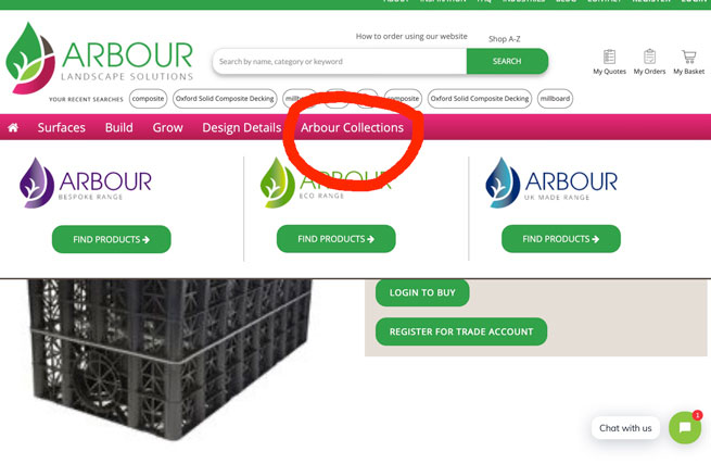 how to find arbor eco collection